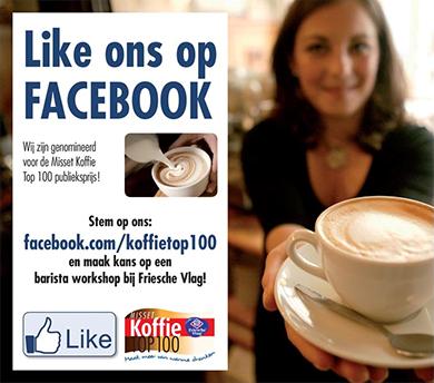 Like ons op facebook en maak kans op een Barista workshop