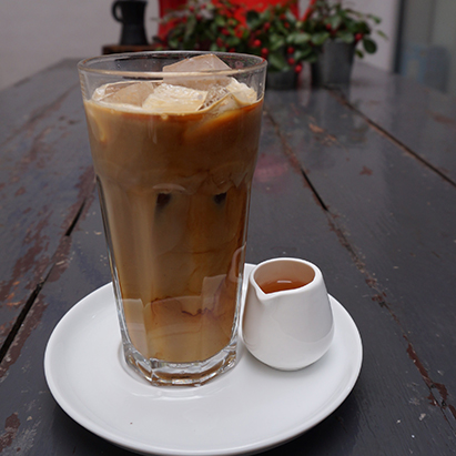 Iced coffee doppio latte